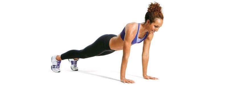 ejercicios para fortalecer la espalda. Postura de la tabla