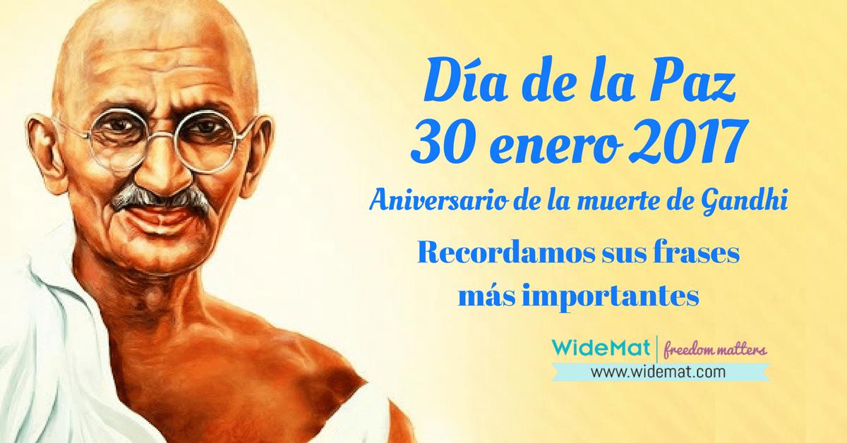 Las 103 frases de Gandhi sobre la No Violencia y la libertad