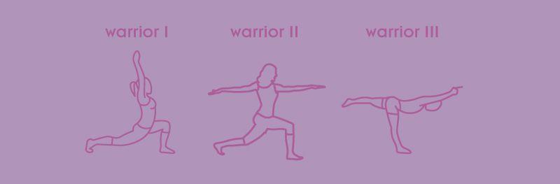 Posturas del guerrero yoga