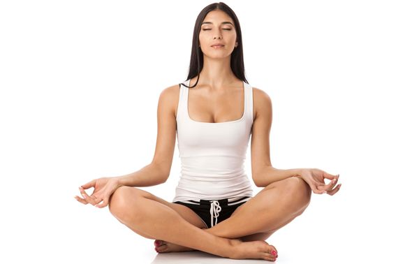 cómo meditar. Postura Sukhasana
