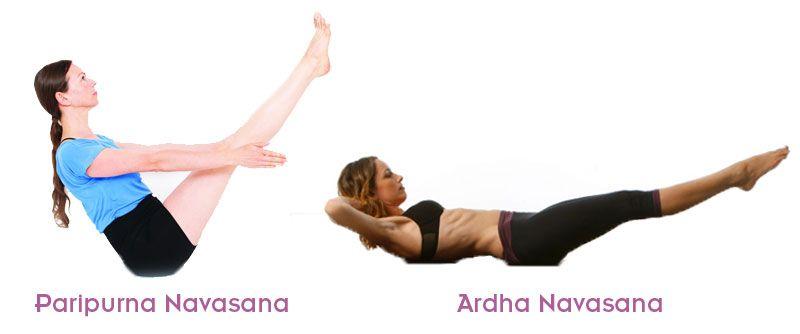Paripurna y Ardha Navasana