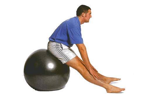 Ejercicio fitball para tendones