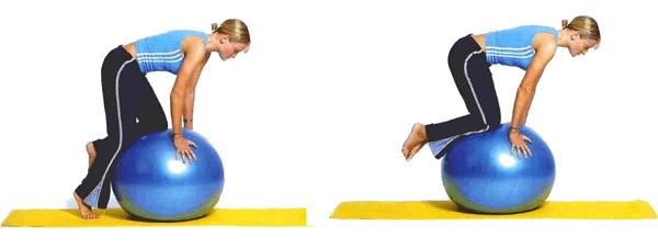 Ejercicio de equilibrio con las rodillas
