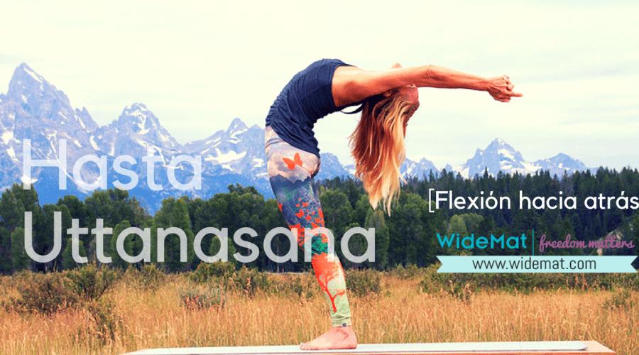 Hasta Uttanasana o Postura de la Flexión hacia atrás