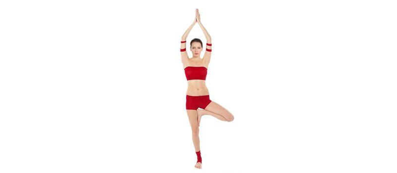 Asana del árbol. Yoga en casa para principiantes