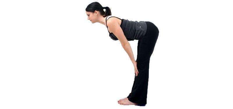 Ardha Uttanasana para abdomen