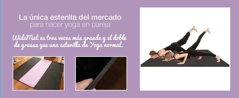 la unica esterilla de yoga para hacer yoga en pareja