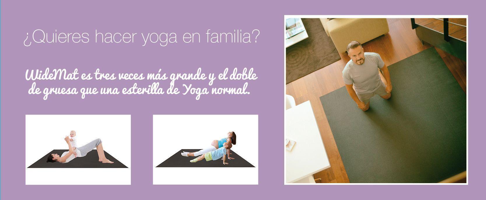yoga para niños con WideMat