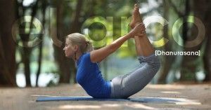 Dhanurasana o postura del arco
