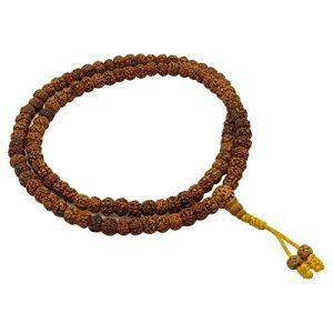 Hechas a Mano 109 collar de los granos tradicionales Rudraskha japa mala religiosa Oración
