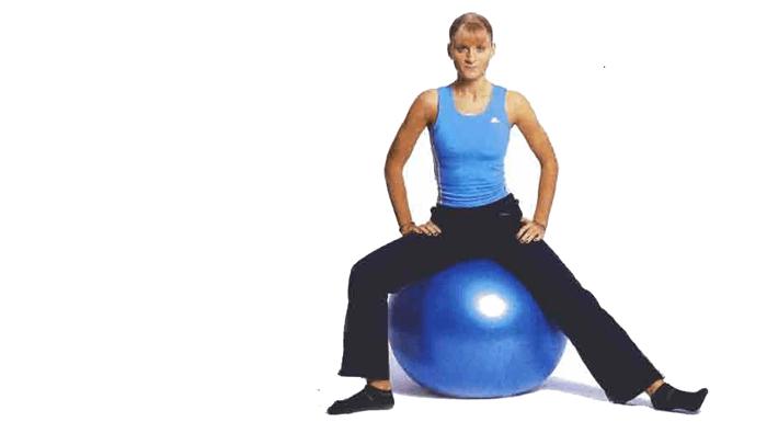 Entrenamiento abductores con pelota de fitball