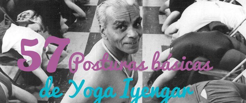 Las 57 posturas de Yoga Iyengar