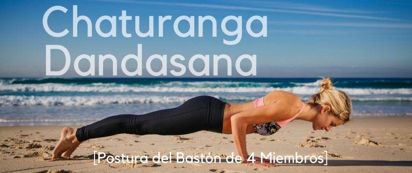 Chaturanga Dandasana o Postura del Bastón de 4 Miembros