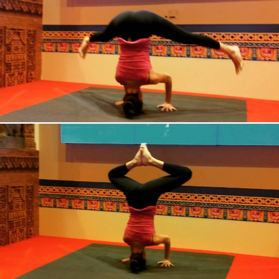 Headstando sobre WideMat